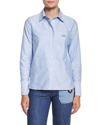 See By Chloe Oxford Button Down Shirt Blue