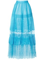 Ermanno Scervino High Waisted Tulle Skirt Blue