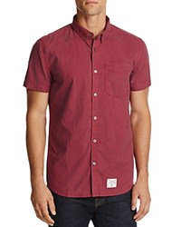 Superdry Pantechnicon Regular Fit Button Down Shirt Watford Red