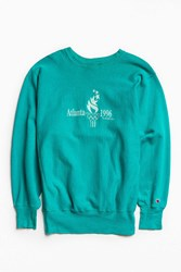Urban Outfitters Vintage Champion Atlanta '96 Olympics Crew Neck Sweatshirt Teal