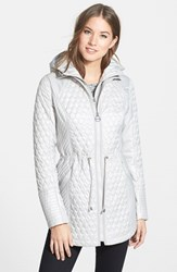 Laundry By Shelli Segal Petite Women's Quilted Jacket With Hooded Inset