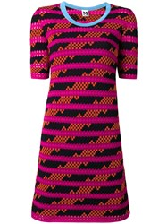 M Missoni Striped Pattern Shortsleeved Dress