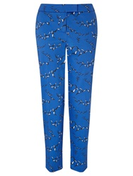Collection Weekend By John Lewis Flock Of Birds Capri Trousers Bright Blue