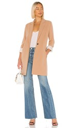 Cupcakes And Cashmere Haarlem Blazer Coat In Tan. Caramel