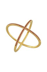 Bony Levy Women's Crossover Diamond Ring Nordstrom Exclusive Yellow Gold Ruby