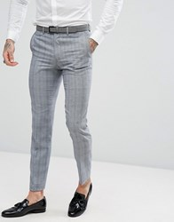 Rudie Twisted Check Skinny Fit Suit Trousers Black