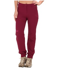 Jack Wolfskin Activate Pants Wild Berry Women's Casual Pants Burgundy
