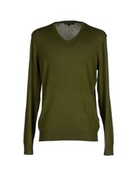 Andrea Morando Knitwear Jumpers Men Military Green