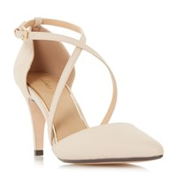 Linea Cayley Cross Strap Two Part Court Shoes Nude