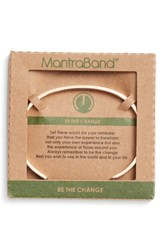 Mantraband Women's Be The Change Engraved Cuff Rose Gold