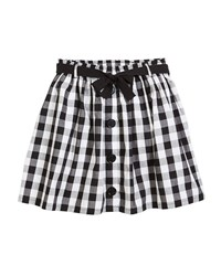 Kate Spade A Line Gingham Cotton Skirt Size 7 14 Multi