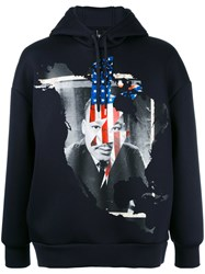 Neil Barrett Marther Luther King Hoodie Blue