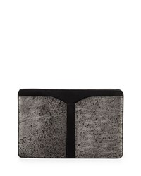 Boyy Samuel Calf Hair Clutch Bag Gunmetal Hollywood