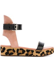 Francesco Russo Leopard Print Detail Sandals Pink And Purple