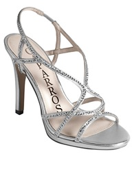 Caparros Zarielle Strappy High Heel Sandals Silver