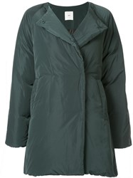 Kuho Collarless Padded Coat Green