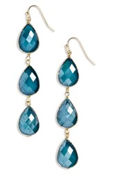 Panacea Linear Crystal Earrings Teal