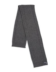 Nautica Cable Knitted Scarf Granite