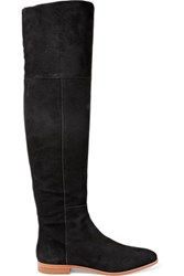 Loeffler Randall Suede Thigh Boots Black