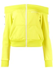 Palm Angels Bardot Track Jacket Yellow