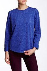 Vince Rolled Sleeve Back Zip Pullover Blue