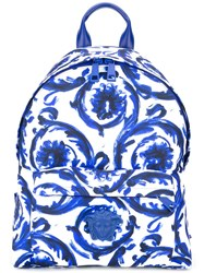 Versace Painted Baroque Medusa Backpack White