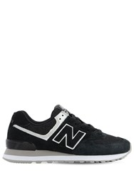 New Balance 574 Suede And Mesh Sneakers Black