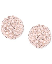 Swarovski Rose Gold Plated Crystal Stud Earrings Rose Pink