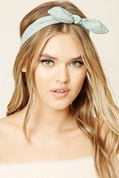 Forever 21 Metallic Studded Bow Headwrap
