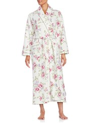 Carole Hochman Quilted Floral Robe White