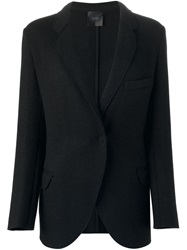 Agnona Single Button Blazer Black