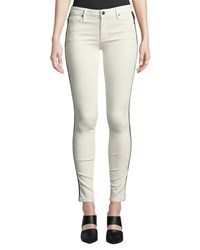 Black Orchid Jude Mid Rise Skinny Jeans W Tuxedo Stripes White Pattern