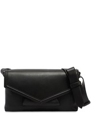 Micoli Posta Nappa Leather Crossbody Bag Black
