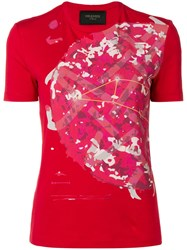 Mr And Mrs Italy Camouflage Print T Shirt Red