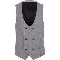 River Island Black Gingham Suit Waistcoat