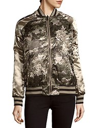 Members Only Printed Reversable Bomber Jacket Camo