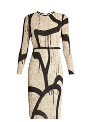 Max Mara Bina Dress Beige Print