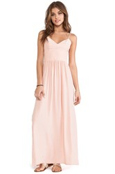 Amanda Uprichard Slit Maxi Gown Blush