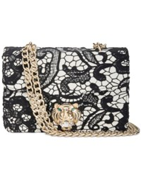 Betsey Johnson Lady Lace Small Chain Strap Shoulder Bag Black