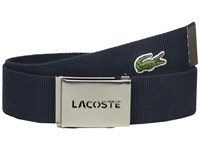 Lacoste 40Mm Gift Box Woven Strap Navy Men's Belts