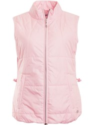 Green Lamb Jody Embossed Padded Gilet Pink