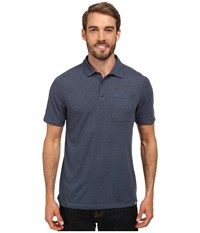 The North Face Short Sleeve Meadowlake Flashdry Polo Cosmic Blue Heather Men's Clothing