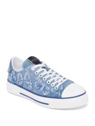 Valentino Denim Butterfly Low Top Sneakers