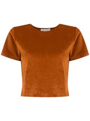 Lilly Sarti Cropped Blouse Yellow And Orange