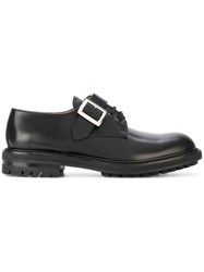 Alexander Mcqueen Buckled Derby Shoes Men Calf Leather Leather Rubber 44 Black