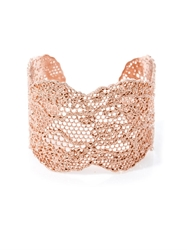 Aurelie Bidermann Rose Gold Plated Lace Cuff
