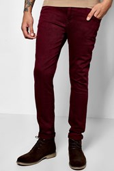 Boohoo Fit Colour Jeans Burgundy