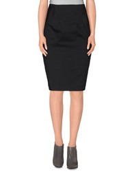 Fairly Skirts Knee Length Skirts Women Black