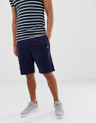 Lyle And Scott Sweat Shorts In Navy