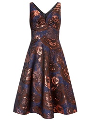 Ariella Azia Jacquard Prom Fit And Flare Dress Multi Coloured